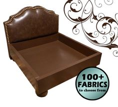 Custom Upholstered Headboard Dog Bed Small by AdoreCustomPetBeds, $275.00