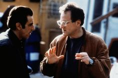 "Larry Wright on Twitter: ""Michael Mann gives direction to Al Pacino on the set of HEAT, 1995 http://t.co/JGAb3rs1J3"""