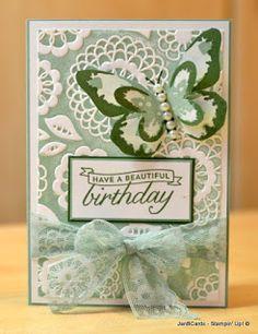 JanB Handmade Cards Atelier: Week 6 Challenge - Using Embossing Folders