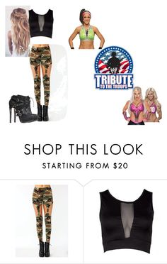 """Rinside for Bayley VS. Dana Brooke."" by jamiehemmings19 ❤ liked on Polyvore featuring WWE"