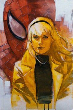 Gwen Stacy & Spider-man by Phil Noto. She's gonna die. Marvel Comic Books, Marvel Characters, Marvel Heroes, Comic Books Art, Marvel Women, Spiderman Kunst, Phil Noto, Comic Kunst, Gwen Stacy