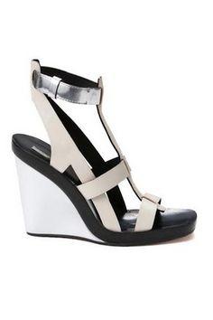 CALVIN KLEIN 'Frey' silver sandal #MyerSS13