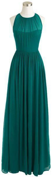 Petite Megan Long Dress in Silk Chiffon - Lyst