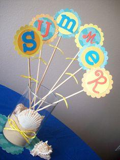 Fun in the Sun Summer Decorative Picks by HappyHeartedHostess, $8.00