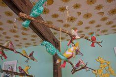 Bird Mobile in Nursery