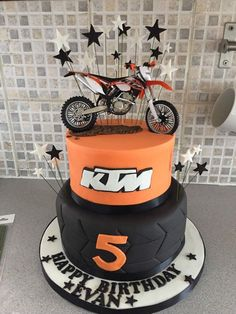 Dirtbike Cake Stuff for Foxy Pinterest Cake Birthdays and