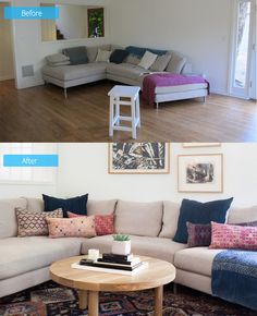 Warm and Inviting Before and After Interior Redesign by Amber Interior Design | Home Design Lover