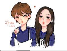 Twice Fanart, Tzuyu Twice, Kpop Fanart, Korean Girl Groups, Kpop Girls, Cute Couples, Neon, Fan Art, Kpop Groups