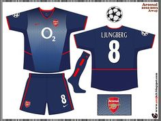 Arsenal Kit 2002-2004 Away 2