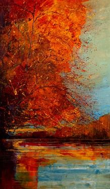 "Saatchi Online Artist Justyna Kopania; Painting, ""In October..."" #art"
