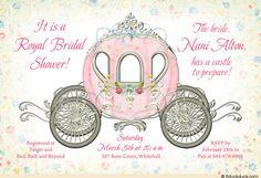 Delicate Princess Bridal Shower Invitation