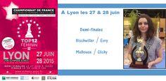 Le Top 12 féminin d'échecs, c'est ce week end à Lyon ! Qui de Bischwiller, Evry, Mulhouse ou Clichy gagnera le titre?