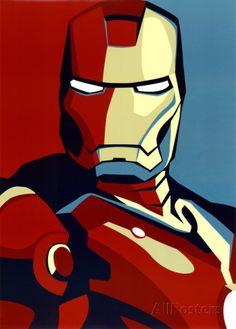 Iron Man 2 Movie (Artistic Stylized Iron Man) Art Poster Print Stampe su AllPosters.it