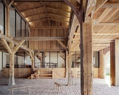 Built by Thomas Kröger Architekt in Berlin, Germany with date 2014. Images by Thomas Heimann. In a small village in the Uckermark, north of Berlin, a large barn has been converted into a country house with an ad...