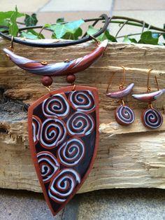 Conjunto Espirales Realizado por Stephanie Henke para Isainar Bisuteria