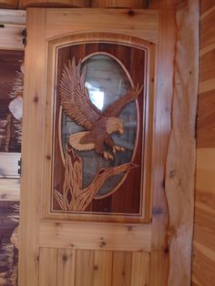 Custom sand carved wood doors are ideally suited for residential homes, lake homes, or cabins. Custom Wood Doors, Wood Front Doors, Rustic Doors, Cool Doors, Unique Doors, Wooden Gates, Wooden Doors, Wood Carving Art, Wood Art
