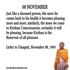 08 November  For full quote go to: http://quotes.iskcondesiretree.com/08-november-2/  Subscribe to Hare Krishna Quotes: http://harekrishnaquotes.com/subscribe/