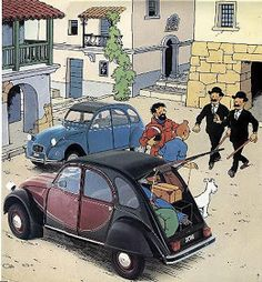 Just A Car Guy: Batman and Tin Tin love the Citreon Fancy Cars, Cool Cars, Classic Motors, Classic Cars, My Dream Car, Dream Cars, Vintage Cars, Antique Cars, 2cv6