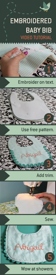 Here's a baby gift that's as sweet and special as the person you're giving it to: a Hand-Embroidered Baby Bib. Never embroidered? No problem, just try this simple technique…