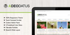 Theme Description:Adeodatus Pre Theme    Adeodatus is fully responsive HTML5 wordpress theme whith latest CSS3 techniques with an accent on business, agency, portfolios etc. It is cross browser compatible, using Google font Open Sans. Also you get working AJAX contact form.