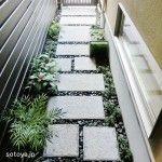 京都の町家風アプローチ Japanese Garden Style, Garden Styles, Backyard Landscaping, Stepping Stones, Entrance, Sidewalk, New Homes, Stairs, Yahoo