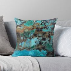 Designs, Throw Pillows, Art Prints, Turquoise Gemstone, Close Up Photography, Nature, Art Impressions, Cushions