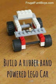 Rubber band powered Lego Car - Fun stuff