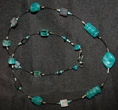Hematite and Teal with wire:Custom Order