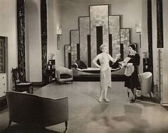 Art director Cedric Gibbons used strong, geometric accents to achieve the Art Deco look of Our Dancing Daughters (1928).