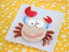 crabfish cute food for kids  #GaleriAkal Untuk berbagi ide dan kreasi seru si Kecil lainnya, yuk kunjungi website Galeri Akal di www.galeriakal.com Mam!
