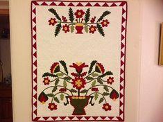 Pot of Flowers Applique Quilt Pattern