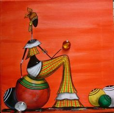 Art Visage, African Art Paintings, Buddha Painting, Indian Folk Art, Art Africain, Africa Art, Art Corner, Arte Popular, Silhouette Art