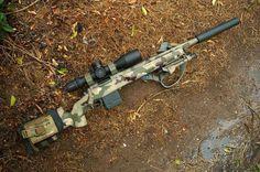 Bag full of guns — Bolt Action Sniper Tactical Rifles, Firearms, Sniper Rifles, Shotguns, Sniper Gear, Weapons Guns, Guns And Ammo, Remington 700, Bolt Action Rifle
