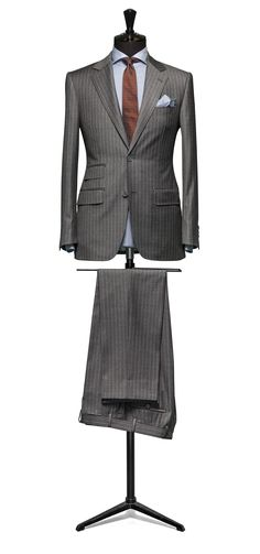 Grey suit Stripe grey S110 http://www.tailormadelondon.com/shop/tailored-suit-fabric-4313-stripe-grey/