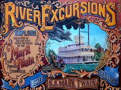 Mark Twain River Excursions graphic, Disneyland