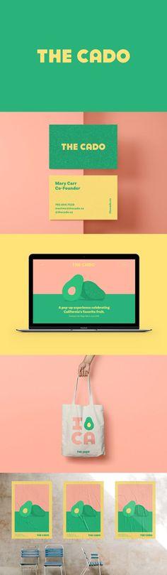 The Cado Pop-up Avocado Museum Branding by Cristie Stevens