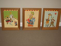Vintage 1960's Paint By Numbers CIRCUS Clown Horse Monkey Elephant Nursery  | eBay
