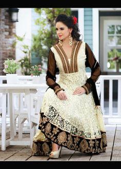 Black & Off White Salwar Kameez