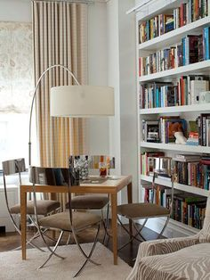 living room with small puzzle tabl - Google Search