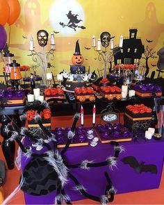 Festa Halloween super bacana, adorei! Por @georgiafestas  #kikidsparty