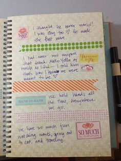 Mrs Crafty Adams | Wedding and Love Smash Book: True Love - washi tape banners, phrase stickers