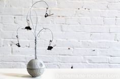HomeMade Modern DIY EP22 The Death Star Vase Options. i know a 5 year old who would love this, would also make a cool lamp base