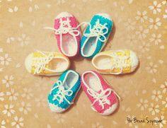 Como Faz Tudo: Como fazer sapatinho tipo All Star de crochê para bebês, receita, gráfico, passo a passo e dicas de venda