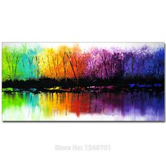 Hand Painted Abstract Colorful Forest Landscape Oil Painting On Canvas Abstract Landscape Wall Pictures Living Room Home Decor. Yesterday's price: US $69.00 (56.33 EUR). Today's price: US $35.88 (29.39 EUR). Discount: 48%.