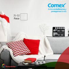 Blanco el color de la paz, rojo el color del #amor. #Decoración #Comex