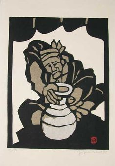 For the largest collection of century Japanese woodblock prints including, Potter by Mori, Yoshitoshi, visit Ronin Gallery in NYC today! Stencil Printing, Japan Painting, Japanese Prints, Manga, Woodblock Print, Asian Art, Art School, Printmaking, Stencils