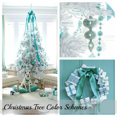 Blue and green Christmas decor - Google Search