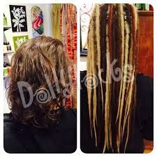 Before after human hair dreadlock extensions dollylocks human before and after dreadlock extensions google search pmusecretfo Images