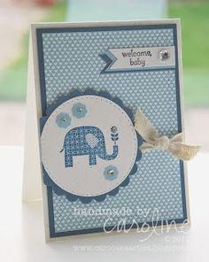 Stampin' Up! Baby Card by Caroline van der Straaten at Caro's kaartjes: Welcome baby!