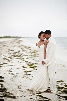 Tropical beach wedding at Excellence Playa Mujeres All-Inclusive Resort in Cancun, Mexico - photos by JAGstudios | via junebugweddings.com